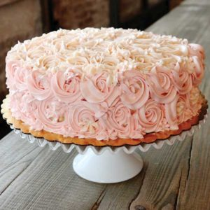Custom Vegan and Gluten free cake with pink icing